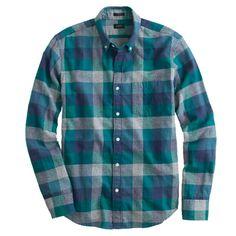 Slim brushed twill shirt in heathered plaid - slim shop - Men's Men_Special_Shops - J.Crew