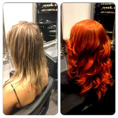 Hot #hair colour change from our Wollongong #salon #blowdrybar