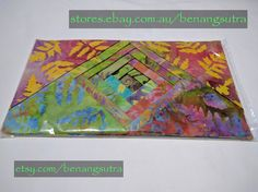 """""""Rainbow Topaz"""" Batik Fabric Charm Pack 12.7 x 12.7 or 5"""" x 5"""" pack of 42""""charms"""" $16.95"""