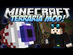 Minecraft | TERRARIA MOD! (Eye of Cthulhu, Excaliber, Obsidian Skulls & More!) | Mod Showcase