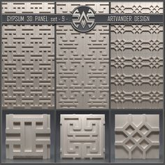 models: Other decorative objects - Gypsum panel 3d Wall Tiles, Material Library, 3d Panels, Gypsum, Decorative Objects, 3 D, Outdoor Decor, Design, House