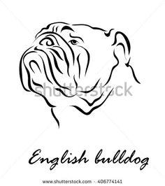Illustration shows a dog breed English Bulldog Mini English Bulldogs, French Bulldog Art, English Bulldog Puppies, Animal Sketches, Animal Drawings, Bulldog Drawing, Dog With Glasses, Bulldog Mascot, Animal Templates