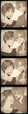 Spamano -Spain and Romano -photobooth  -Hetalia