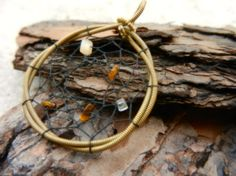 Guitar String Dream Catcher Pendant by TwistedChords on Etsy, $25.00