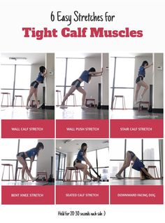 Regularly stretching out your calf muscles will increase your range of motion and decrease injury. Get started with easy calf stretches you can do at home! Calve Stretches, Stretches For Legs, Stretches For Runners, Muscle Stretches, Easy Stretches, Leg Stretching, Stretching Exercises, Best Calf Stretches, Stretching For Flexibility