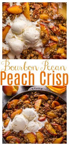 Pecan Recipes, Fruit Recipes, Fresh Peach Recipes, Sweet Recipes, Fresh Peach Crisp, Fruit Crisp Recipe, Peach Dish, Peach Desert