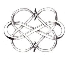 Kinda love this. Entwined hearts with the infinity symbol