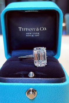 24 Tiffany Engagement Rings That Will Totally Inspire You tiffany engagement rings solitaire engagement rings rose gold engagement rings emerald cut engagement rings Perfect Engagement Ring, Antique Engagement Rings, Rose Gold Engagement Ring, Engagement Ring Settings, Solitaire Engagement, Solitaire Diamond, Diamond Rings, Solitaire Rings, Engagement Sets