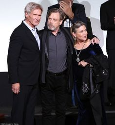 Legends strike back! Harrison Ford, Mark Hamill, and Carrie Fisher celebrated another landmark moment in their careers at the premiere for Star Wars: The Force Awakens at the Dolby, El Capitan, and TCL Theatres in Hollywood on Monday evening