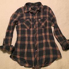 Obey size small plaid button down shirt. Very light weight, cotton, plaid button down shirt. Long sleeves but they can be rolled up. Very good condition. Small. Obey Tops Button Down Shirts