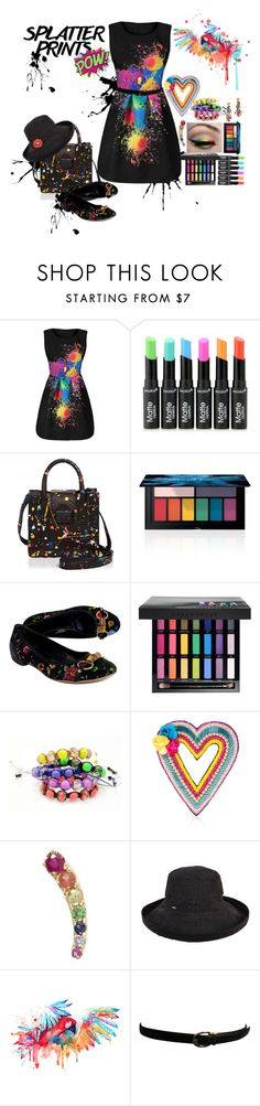 """""""CONTEST ENTRY: Splatter Prints"""" by bnspyrd ❤ liked on Polyvore featuring Loeffler Randall, Smashbox, Gucci, Urban Decay, Shamballa Jewels, Happy Embellishments, Loquet, Target, Tory Burch and Ralph Lauren"""