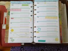 Some new inserts I designed for my planner