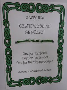 Celtic 3 Wishes Wedding Bracelet Favors Set of by TheCelticHeart