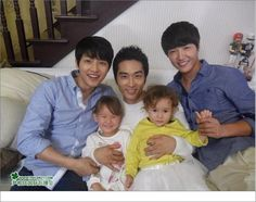 Song Seung-heon, Song Joong Ki, and Yoon Sang Hyun...lucky kids!