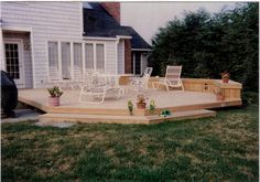 decks | Decks can include benches, lighting, counters, storage areas, poolsand ...