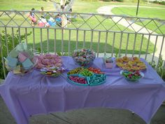 Candy Buffet for a Gender party I threw