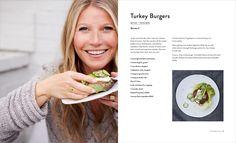 Shubhani Sarkar - Gwyneth Paltrow: The Clean Plate Fall Recipes, Healthy Recipes, Cookbook Design, Chocolate Chia Pudding, Clean Plates, Gwyneth Paltrow, Turkey Burgers, Milkshake, Meal Planning