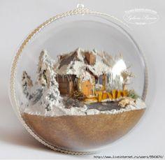 TUTORIAL Handmade Christmas Decorations, Christmas Ornament Crafts, Christmas Balls, Christmas Crafts, Xmas, Jesus Birthday, Putz Houses, Country Crafts, Vintage Paper