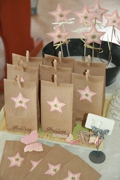 Enchanted Princess Party Gift Bags Loot Bags Goodies by InPinkInk, $10.00