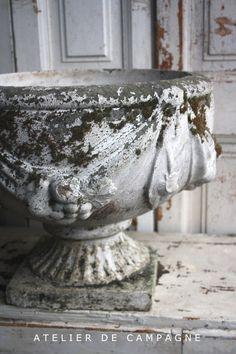 Pair of White Planters detail Urn Planters, White Planters, Pots, The White Album, Garden Urns, Vintage Soul, Vases, Garden Pictures, Architectural Antiques