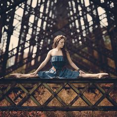 Photo by Michaël Fournier. Model: Lisa-Anne Paradis dance, dancer, metal, ballet, turquoise, ballerina, stretch