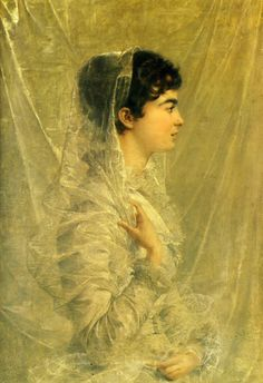 Edouard Marie Guillaume Dubufe - Madame Dubufe, née Cécile Woog, 1881