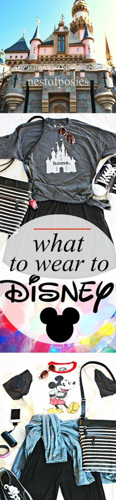 What to Wear to Disney. Themed outfit ideas.