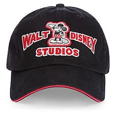 Mickey Mouse Baseball Cap for Adults - Walt Disney Studios | Disney StoreMickey Mouse Baseball Cap for Adults - Walt Disney Studios - Our sporty Walt Disney Studios logo baseball cap featuring Mickey Mouse pairs a contemporary hat design with artwork that hails from the golden age of animation.