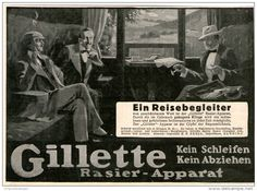 Original-Werbung/Inserat/ Anzeige 1912 - GILLETTE RASIER APPARAT - ca. 180 x 130 mm