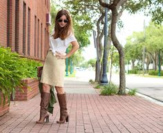 Beaded Skirt and Boots