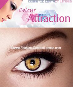Color Attraction Amber Contact Lenses