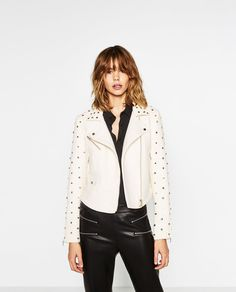 LEATHER EFFECT JACKET-View all-OUTERWEAR-WOMAN   ZARA United States