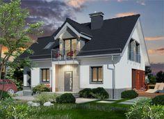 Projekt+Domidea+63+dG Home Fashion, Mansions, House Styles, Home Decor, Balcony, Luxury Houses, Interior Design, Home Interior Design, Palaces