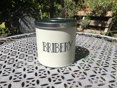 Items similar to Bribery Treat Tin on Etsy Tin, Treats, Mugs, Tableware, Tin Metal, Sweet Like Candy, Dinnerware, Tumbler, Dishes