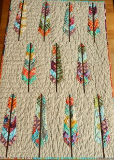 I've finished the Feather Bed Quilt. pattern and fabric by the very talented Anna Maria Horner ! The quilt was a pleasure to piece! Quilting Projects, Quilting Designs, Sewing Projects, Quilt Design, Quilting Tips, Arrow Quilt, Tree Quilt, Quilt Bedding, Quilt Tutorials