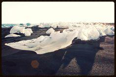 Iceland Ice Lagoon iceberg on the beach
