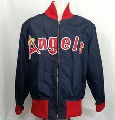 Vintage California Angels Jacket XL Zip Up Halo W A Goodman Sons MLB Size 42 #WAGoodmanSons #Casual