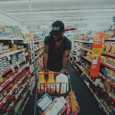 why does he look fly grocery shopping? i never look this dope at walmart!! LOL