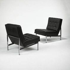 Florence Knoll Bar Lounge Chairs