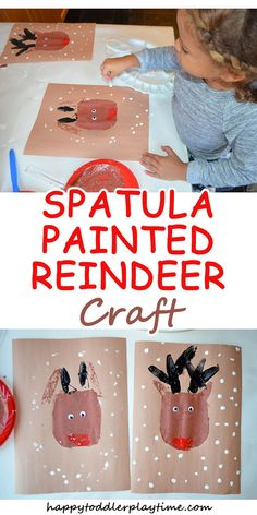 SPATULA PAINTED REINDEER CRAFT – HAPPY TODDLER PLAYTIME