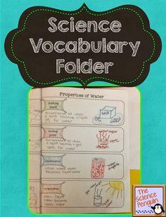 The Science Penguin: Science Vocabulary Folders Editable Freebie