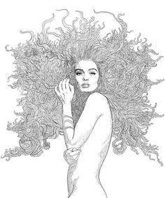 Penelope Poster in de groep Posters / Illustraties bij Desenio AB Painting Inspiration, Art Inspo, Tapas, Salon Art, Ink Pen Drawings, 139, Hippie Art, Human Art, Art Graphique