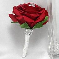 Wedding+Flowers+Roses+Boutonnieres+Wedding+Party/+Evening+Satin+–+USD+$+24.00