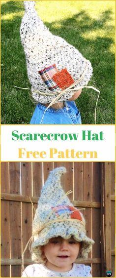 Crochet Scarecrow Hat Free Pattern - Crochet Halloween Hat Free Patterns