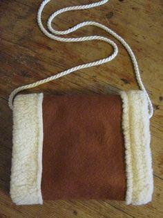 wool and fleece hand muff