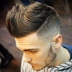 Are you searching for Quiff Haircut and Hairstyle? We have compiled a list of best Quiff Haircuts for men besides you have curly or short hair for quiff Temp Fade Haircut, Quiff Haircut, Mens Hairstyles Fade, Mohawk Hairstyles, Pelo Mohawk, Young Men Haircuts, Latest Short Haircuts, Medium Haircuts, Men's Haircuts