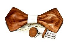 Wooden Handmade Bow Tie + Wooden Cufflinks. Handcrafted Wood Bowtie Item description: The unique and exclusive design of bow ties is something you have never seen before. We are presenting it as a new way of expressing your style, we created it for you to get more from your outfits. Each of