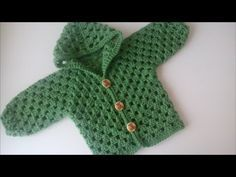 Crochet un abrigo o suéter para Bebé parte 1 De 2 - con Ruby Steman - YouTube