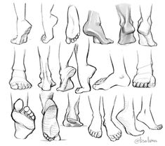 feet references - drawing - foot - ankle - anatomy - drawing tutorial You ar. Feet Drawing, Drawing Poses, Drawing Tips, Drawing Ideas, Drawing Drawing, Female Face Drawing, Drawing Hands, Human Figure Drawing, Anatomy Sketches
