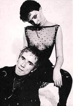 Johnny Rotten and Siouxie Sioux
